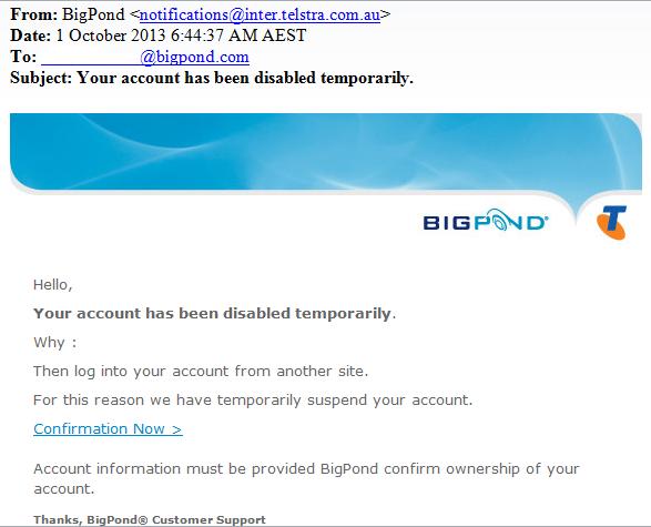 bigpond scam